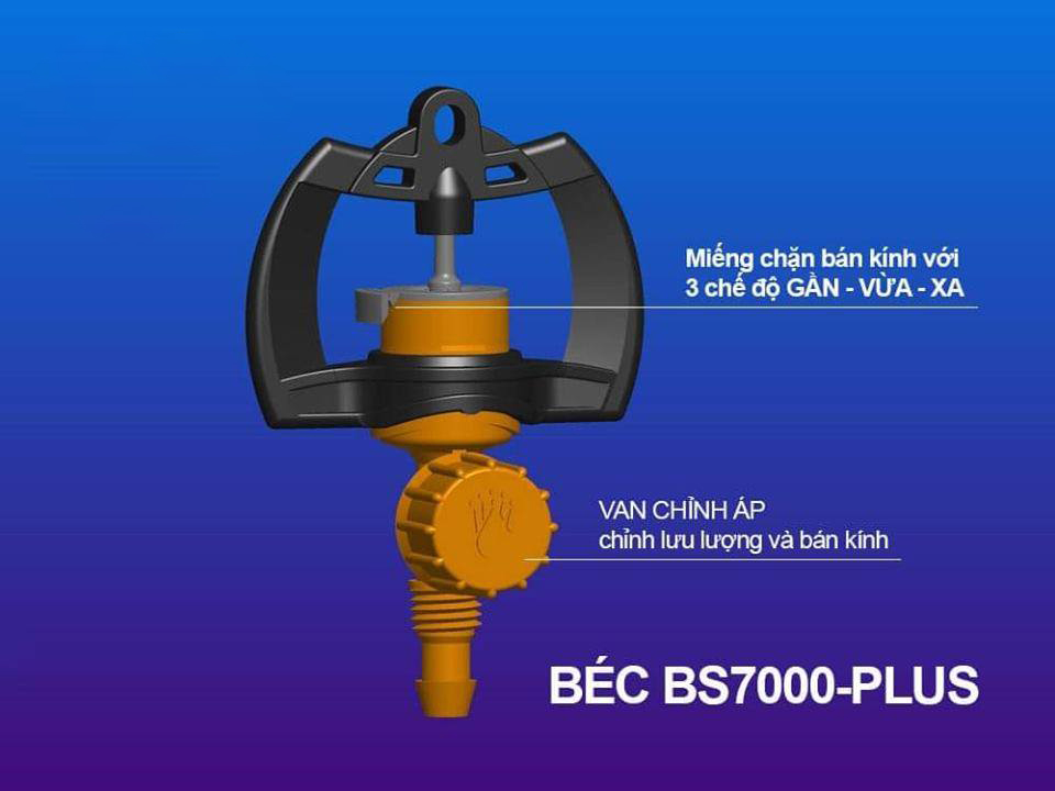 BÉC TƯỚI BS7000 PLUS